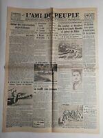 N246 La Une Du Journal L'ami du peuple 13 aout 1937 combats grande muraille
