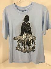 Star Wars Boys Darth Vader At-At Walking Parody S/S T Shirt Light Blue Xl(Y) Nwt