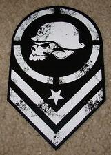 "METAL MULISHA Chevron Blk Wht Helmet Skate Sticker 6"" motocross skateboard decal"