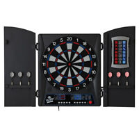 Fat Cat Mercury Electronic Soft Tip Dartboard Game with Cabinet and Dart Set