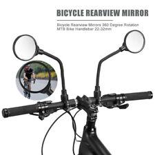 BICYCLE Bike MOBILITY SCOOTER MOUNTAIN BIKE HANDLEBAR REAR VIEW MIRROR BLACK*