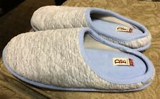 Women Dearfoams Quilt Memory Foam Clog Slippers Size XL, US 11-12, UK 9-10, Gray