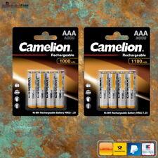 Camelion 1000 - 1100 mAh AAA Micro Akkus HR03 NiMH wiederaufladbare Batterien