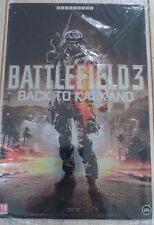 "Battlefield 3 back to karkand"": metal plate/litho a4 [Collector-xbox360/ps3]"