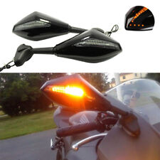 MOTORCYCLE LED TURN SIGNAL INTEGRATED INDICATOR LIGHTS REAR VIEW SIDE MIRRORS MT