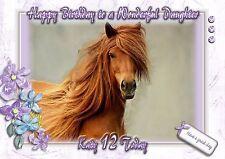 Personalised birthday card horse mum sister daughter grandaughter o