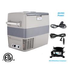 Smad 50L Portable Fridge Freezer Car Truck Refrigerator DC 12/24V AC 110-240V