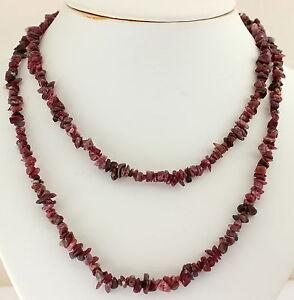 Natural Pink Tourmaline (Rubellite) Splitter Chain Gemstone Endless 90 cm Long