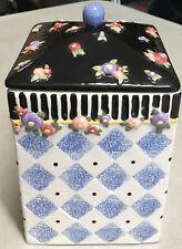 Mary Engelbreit/Michel & Co Medium Canister / Cookie Blue Diamond Cookie Jar