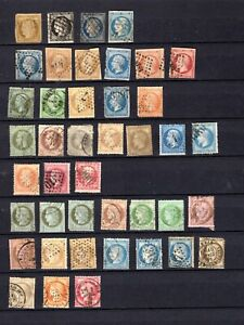 France. 1852-1906. A selection of early used stamps.
