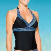 Athleta Lucaya Border Bra Cup Halter Tankini Swimsuit Top 32 B/C Size XS NWT