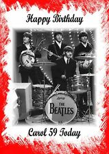 personalised Birthday card The Beatles Dad Mum Sister Brother Uncle Aunt