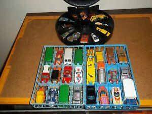 Vtg. Hot Wheels Blackwall Lot. 36 Cars 1 Case & 2 Trays. Mostly Hong Kong!