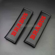 OZ-USA Set of 2 Embroidered AMG Logo Black Neoprene Seat Belt Strap Pads Cover and Key Chain Tag Accessory
