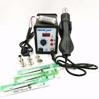 Hot Air Gun Soldering Rework Station Digital Desoldering Station 6 Air nozzles