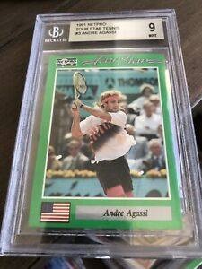ANDRE AGASSI ROOKIE  * 1991 NetPro * #3 BGS 9 MINT!!