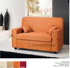 divano 2 posti imbottito in tessuto con 2 cuscini divanetto salotto vari colori