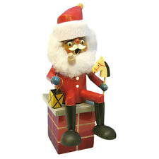 Wooden Sitting Santa Sitting On Chimney Incense Burner Smoker Made In Germany