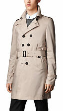 Burberry Prorsum Men's Beige Silk Trench Trench Coat Size 40
