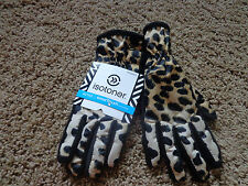 ISOTONER women's smarTouch NEW sz M/L leopard active gloves w/soft lining