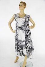 Ärmellose Damenkleider aus Polyester in Übergröße
