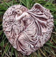 "angel in heart Poly Plastic concrete plaster mold mould 10"" x 10"""