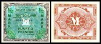 1944 Germany ALLIERTE MILITARBEHORDE 1/2 Mark Banknote