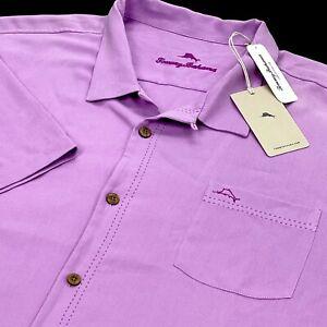 Tommy Bahama Islandzone Royal Bermuda Summer Plum Short Sleeve Shirt 4XLT $130