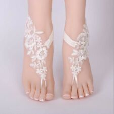 Foot Chain Lace Ankle Bracelet Bridal Beach Wedding Barefoot Sandals