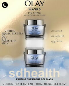 (2 pk) Olay Firming Overnight Gel Mask Vitamin A & B3 Firms Plumps Smooths Skin