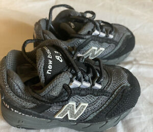 New Balance 83 Infant Toddler Size 4 tennis shoes grey black