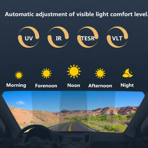 Car Photochromic Film Smart Solar Control Window Tint Sun Shade for Windshield