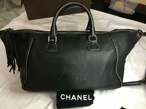 Authentic Chanel Lax Tassel Convertible Duffle Bag