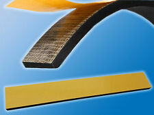 5x Moosgummi Streifen   Einseitig selbstkleb.  400x30x5mm   Schwarz   Kautschuk