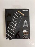 WD WDS500G3XHC SN750 Heatsink M.2 NVMe 500GB SSD - Black