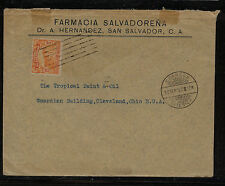 El Salvador  437  on  cover  to   US    1917        MS0531