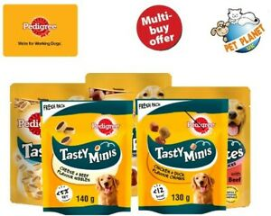 Pedigree Mini Tasty Bites Dog Treats Chewy Slices Chewy Cubes Chicken Or Beef