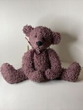 """""""Frizzly"""" the Bear 10"""" Purple Plush Beanie Russ Bears From the Past Retired Rare"""
