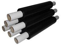 6 Rolls 400mm x 250m 20mu Black Extended Core Stretch Shrink Film / Pallet Wrap