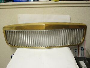 2000-2004 Cadillac deVille DTS DHS E&G Classics Custom Chrome Gold Grille