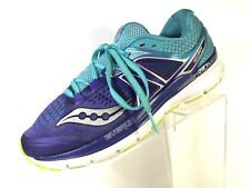 Saucony ISO Triumph Womens Running Shoes Athletic Sneakers Blue Purple Size 9