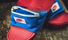Nike Benassi Fanny JDI Pack Slide Sandals Men's 11 red white blue pocket zipper