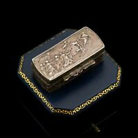 Antique Vintage Georgian Style Sterling 800 Silver GUIDO RENI Pillbox Snuff Box