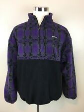 Vintage Gerry Deep Pile Purple Half Zip Fleece Pullover Jacket / Men's XL