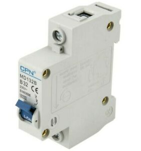 Cudis CPN MD132B 32 Amp Type B Single Pole 230V 6kA B32 Circuit Breaker MCB