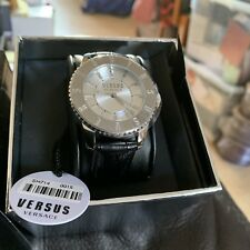 Versace Black And Silver Watch