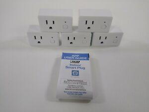 Feit Electric Wifi Smart Plug 5 Pack Works With Alexa, Siri & Google Home Used
