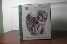 Brand New in Box International Silversmiths Angel Tealight Holder antiqued silve