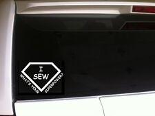 "Sew Superpower vinyl window sticker decal 6"" *C9* sewing seamstress"