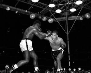 1954 Boxers ROCKY MARCIANO vs EZZARD CHARLES 8x10 Photo Boxing Heavyweight Match